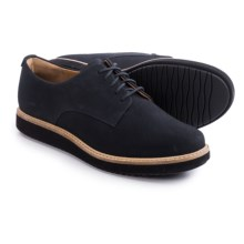 Clarks Glick Darby Lace Shoes - Nubuck (For Women) in Navy Nubuck - Closeouts