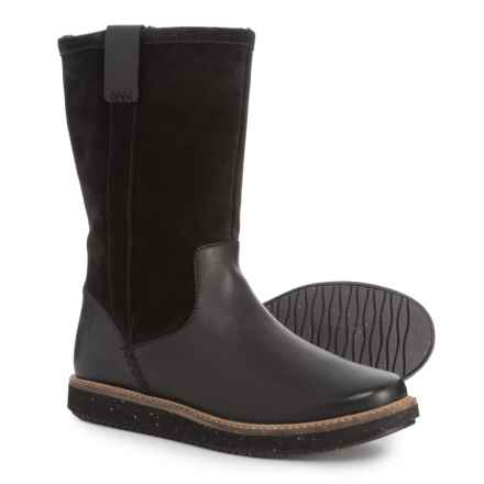 Clarks Glick Elmfield Boots - Leather (For Women) in Black Combination - Closeouts
