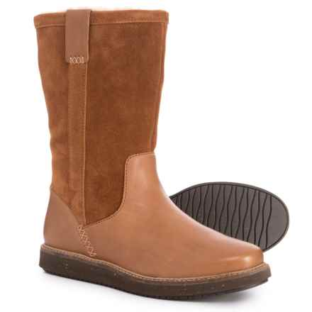 Clarks Glick Elmfield Boots - Leather (For Women) in Tan Combination - Closeouts