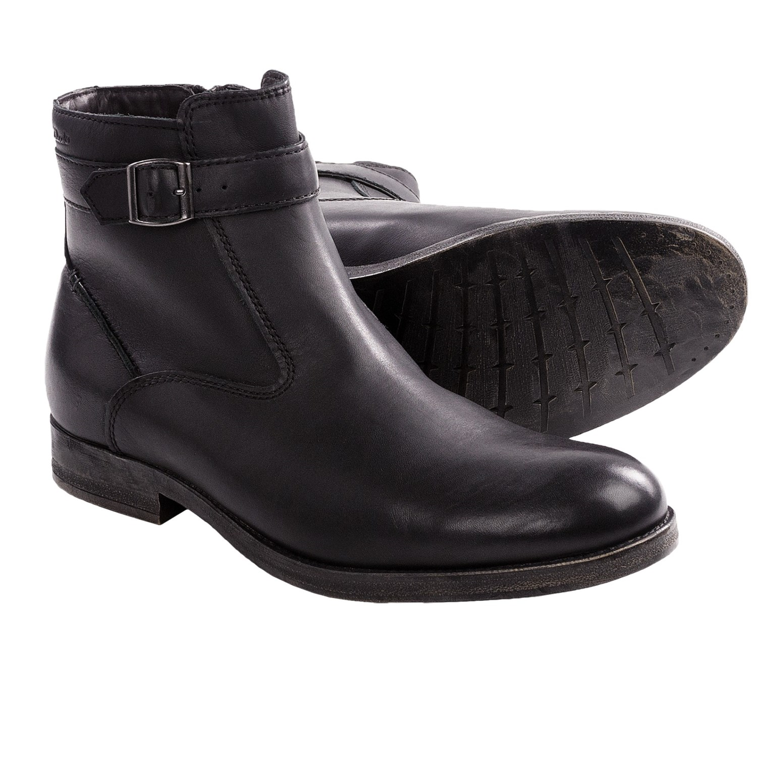 clarks goby leather boots buckle top for save 32