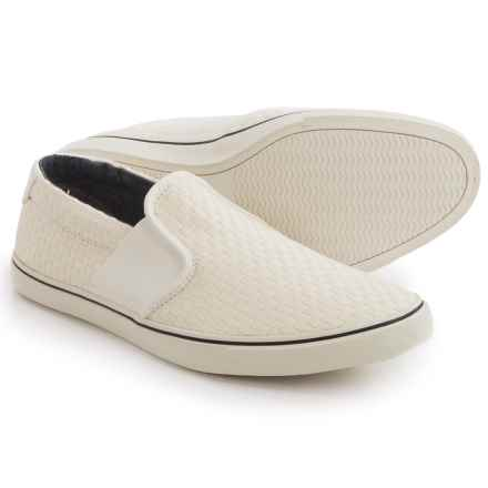 Clarks Gosling Step Shoes - Slip-Ons (For Men) in White Fabric - Closeouts