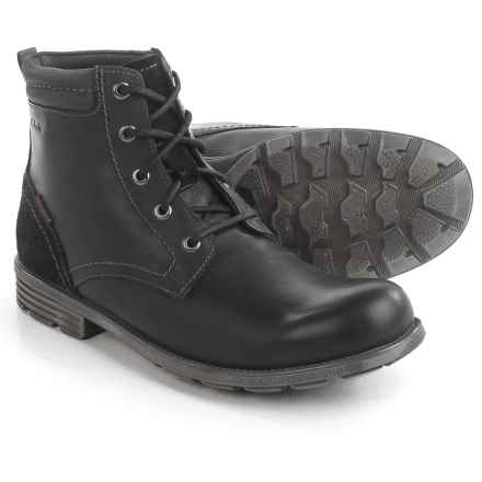 Clarks Guard Peak Boots - Waterproof, Leather (For Men) in Black Leather - Closeouts
