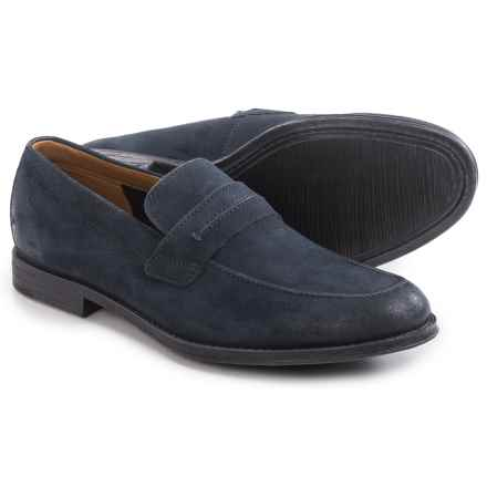 Clarks Hawkley Free Loafers - Suede (For Men) in Blue Combi - Closeouts