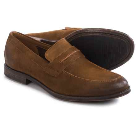 Clarks Hawkley Free Loafers - Suede (For Men) in Tobacco - Closeouts