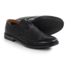 Clarks Hawkley Walk Oxford Shoes - Leather (For Men) in Black Leather - Closeouts