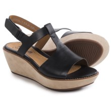 Clarks Hazelle Amore Sandals (For Women) in Black Leather - Closeouts