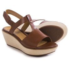 Clarks Hazelle Amore Sandals (For Women) in Tan Leather - Closeouts