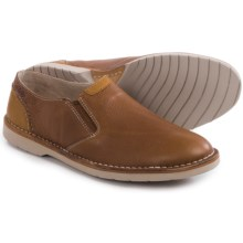 Clarks Hinton Easy Shoes - Leather, Slip-Ons (For Men) in Tan Leather - Closeouts