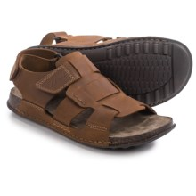 Clarks Keften Cove Sandals - Leather (For Men) in Tobacco Nubuck - Closeouts