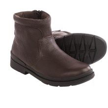 Clarks Kimball Zip Boots - Leather (For Men) in Dark Brown Leather - Closeouts