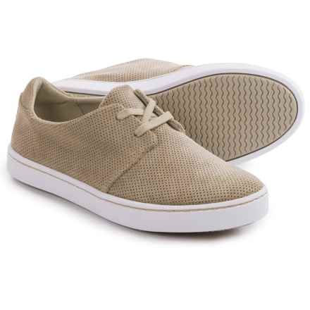 Clarks Leara Blend Shoes - Lace-Ups (For Women) in Sand Suede - Closeouts