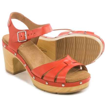 Clarks Ledella Trail Sandals - Leather (For Women) in Grenadine Leather - Closeouts