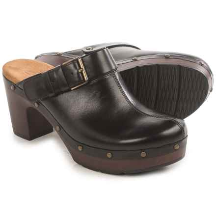 Clarks Ledella York Clogs - Leather (For Women) in Black - Closeouts