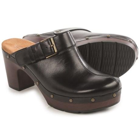 Clarks Ledella York Clogs - Leather (For Women) in Black