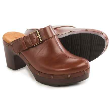 Clarks Ledella York Clogs - Leather (For Women) in Tan - Closeouts