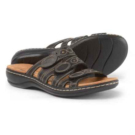 Clarks Leisa Cacti Q Sandals - Leather (For Women) in Black - Closeouts