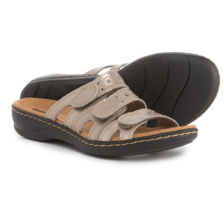 Clarks Leisa Cacti Q Sandals - Leather (For Women) in Pewter