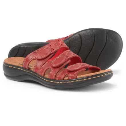 Clarks Leisa Cacti Q Sandals - Leather (For Women) in Red - Closeouts