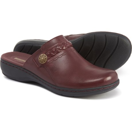 925c39ad13e Clarks Leisa Carly Clogs - Leather (For Women) in Burgandy Leather