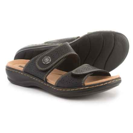 Clarks Leisa Lacole Sandals - Leather (For Women) in Black - Closeouts