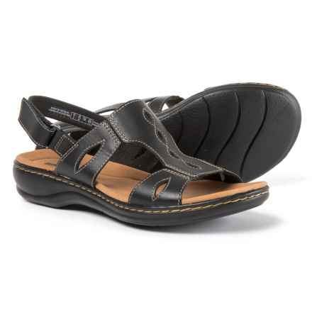 Clarks Leisa Lakelyn Sandals - Leather (For Women) in Black - Closeouts