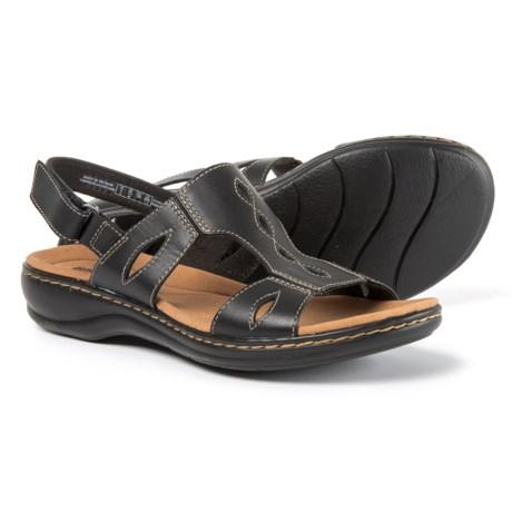 Clarks Leisa Lakelyn Sandals - Leather (For Women) in Black