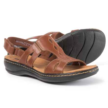 Clarks Leisa Lakelyn Sandals - Leather (For Women) in Tan - Closeouts