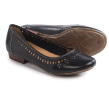 Clarks Lockney Hot Shoes - Leather, Slip-Ons (For Women) in Black Leather - Closeouts