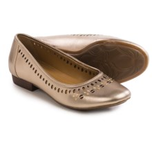 Clarks Lockney Hot Shoes - Leather, Slip-Ons (For Women) in Gold Leather - Closeouts