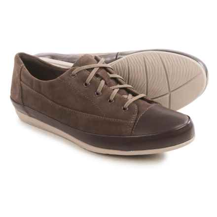 Clarks Lorry Grace Sneakers - Suede (For Women) in Dark Taupe - Closeouts