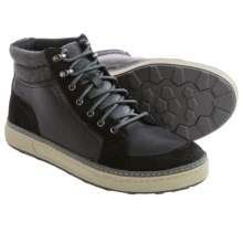 Clarks Lorsen Top Boots (For Men) in Black Warm Lined Leather - Closeouts