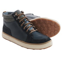 Clarks Lorsen Top Boots (For Men) in Navy Warm Lined Leather - Closeouts
