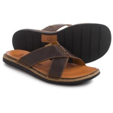 Clarks Lynton Easy Sandals - Leather (For Men) in Tan Leather - Closeouts