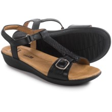 Clarks Manilla Lift Sandals - Leather (For Women) in Black Leather - Closeouts