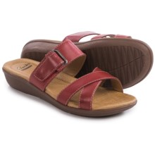 Clarks Manilla Pluma Sandals - Leather (For Women) in Red Leather - Closeouts