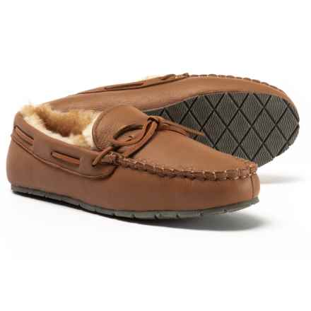 Clarks Maple Deerskin Moccasins - Leather (For Men) in Maple - Closeouts