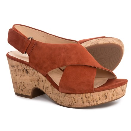 5e8b910bdd06 Clarks Maritsa Lara Sandals - Suede (For Women) in Rust Suede
