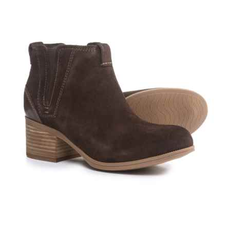 Clarks Maypearl Daisy Ankle Boots - Leather (For Women) in Dark Brown - Closeouts