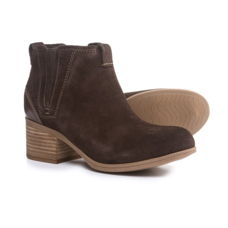 Clarks Maypearl Daisy Ankle Boots - Leather (For Women) in Dark Brown