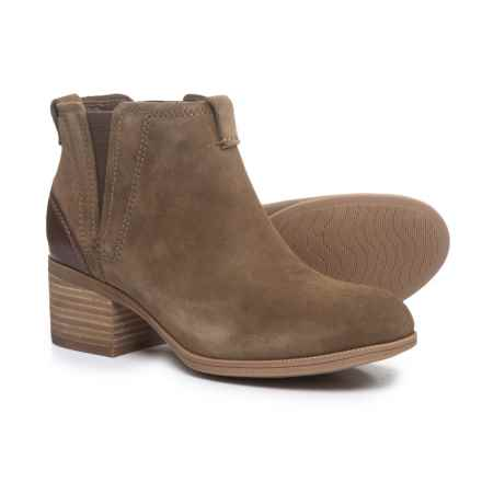Clarks Maypearl Daisy Ankle Boots - Leather (For Women) in Olive - Closeouts