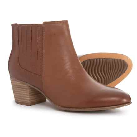Clarks Maypearl Tulsa Ankle Boots - Leather (For Women) in Dark Tan Leather - Overstock