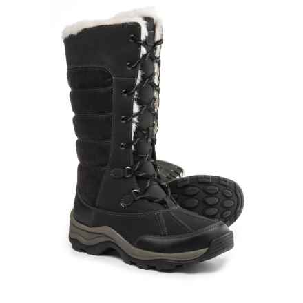 Clarks Mazlyn Mill Pac Boots - Leather (For Women) in Black - Closeouts