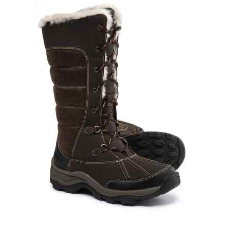 Clarks Mazlyn Mill Pac Boots - Leather (For Women) in Brown - Closeouts