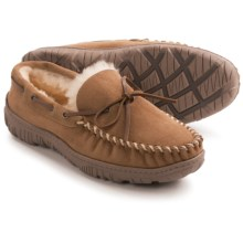 Clarks Moc Shearling Slippers (For Men) in Wicker - Closeouts