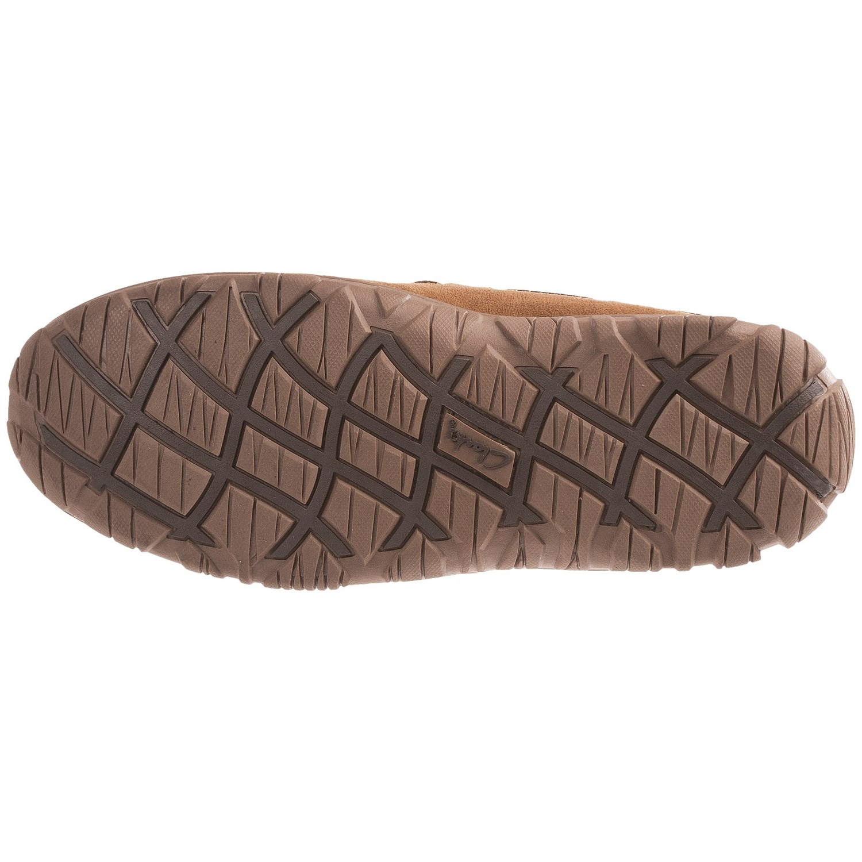 Clarks Moc Shearling Slippers (For Men)