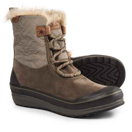 Clarks Muckers Mist Snow Boots - Waterproof, Suede (For Women) in Dark Brown Combination - Closeouts