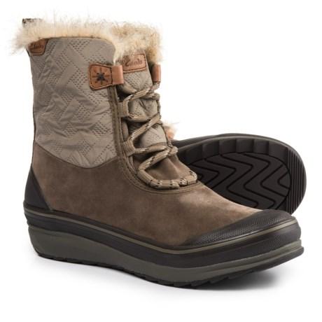 Clarks Muckers Mist Snow Boots - Waterproof, Suede (For Women) in Dark Brown Combination