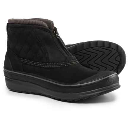 Clarks Muckers Swale Low Snow Boots - Waterproof, Insulated (For Women) in Black Nubuck - Closeouts