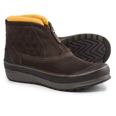 Clarks Muckers Swale Low Snow Boots - Waterproof, Insulated (For Women) in Brown Nubuck - Closeouts