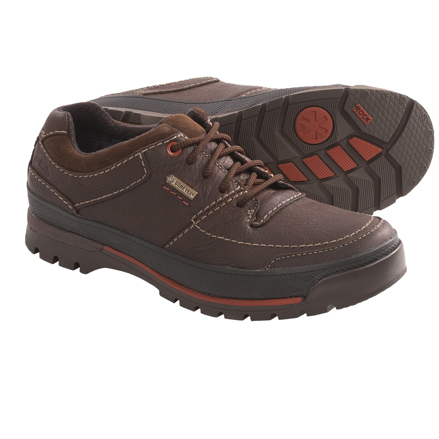 Clarks Narly Path Gore-Tex Shoes - Waterproof (For Men) in Mahogany
